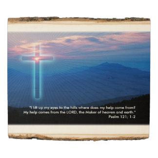 Panel De Madera Salmo 121; 1 cristianos del 2% el pipe%