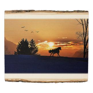Panel De Madera Silueta del caballo