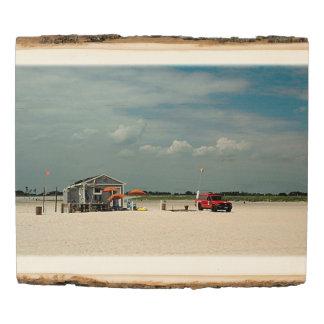 Panel De Madera Soporte del parasol de playa de Jones