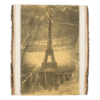 Panel De Madera Torre Eiffel #2 de París del vintage