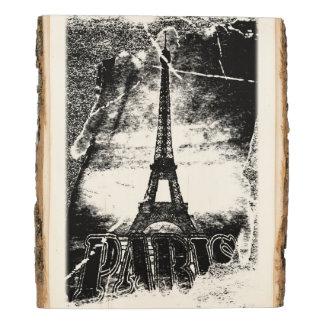 Panel De Madera Torre Eiffel de París del vintage