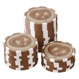 Panes y pretzeles de Praga Juego De Fichas De Póquer