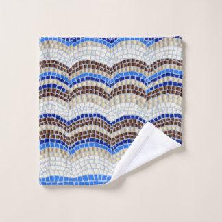 Paño azul del lavado del mosaico