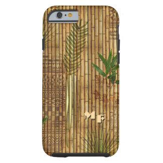 Paño de bambú del Tapa con (o fuera) sus iniciales Funda Resistente iPhone 6