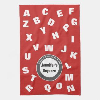 Paño De Cocina Alfabeto personalizado de la guardería