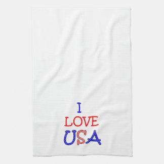 Paño De Cocina Amor patriótico los E.E.U.U. de I
