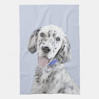 Paño De Cocina Arte azul del perro de la pintura de Belton del