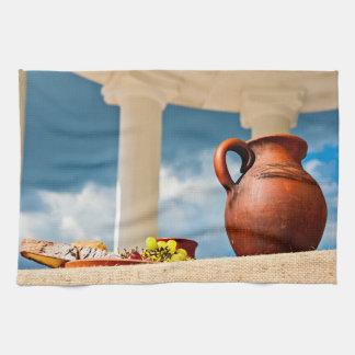 Paño De Cocina Aún-vida antigua clásica con una jarra