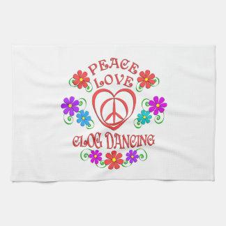 Paño De Cocina Baile de estorbo del amor de la paz