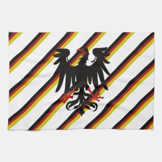Paño De Cocina Bandera alemana de las rayas