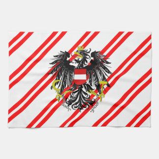 Paño De Cocina Bandera austríaca de las rayas
