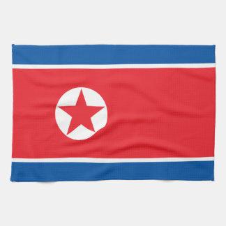Paño De Cocina Bandera de Corea del Norte