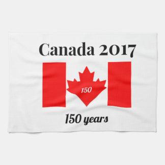 Paño De Cocina Bandera del corazón de Canadá 150 en 2017