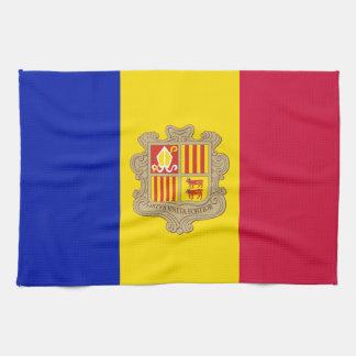 Paño De Cocina Bandera patriótica de Andorra