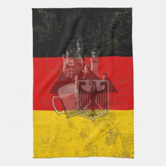 Paño De Cocina Bandera y símbolos de Alemania ID152