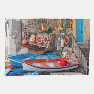 Paño De Cocina Barcos en Cinque Terre Italia