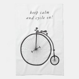 Paño De Cocina Bicicleta vieja, bici, velocípedo - al ciclo cita