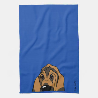 Paño De Cocina Bloodhound cabeza