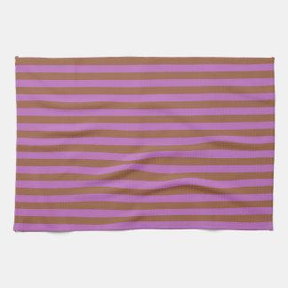 Paño De Cocina Brown y rayas púrpuras