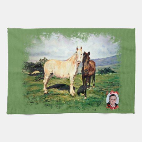Paño De Cocina Caballos/Cabalos/Horses