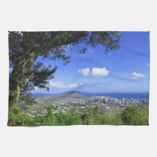 Paño De Cocina Cabeza y Waikiki del diamante