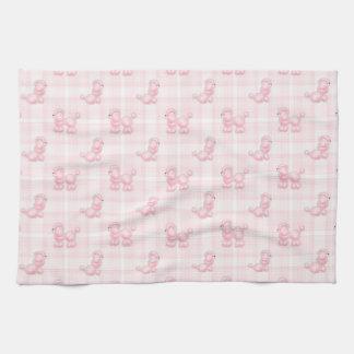 Paño De Cocina Caniches y controles rosados lindos