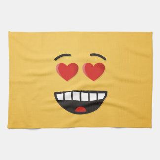 Paño De Cocina Cara sonriente con los ojos en forma de corazón