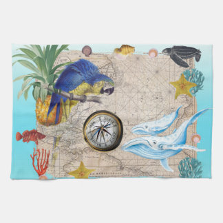 Paño De Cocina Collage azul tropical
