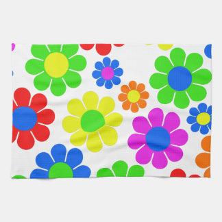 Paño De Cocina Collage de la flor del hippy