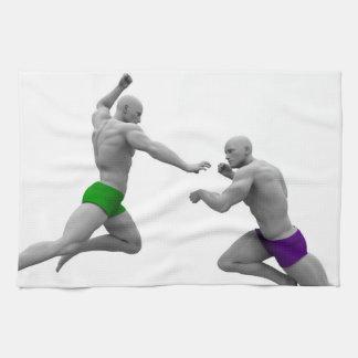 Paño De Cocina Concepto de los artes marciales para luchar y la