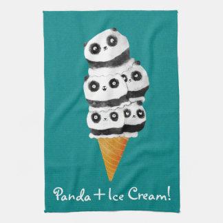 Paño De Cocina Cono de helado dulce del oso de panda