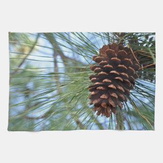 Paño De Cocina Cono del pino del árbol de pino