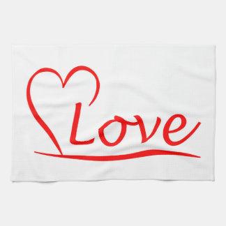 Paño De Cocina Corazón con amor