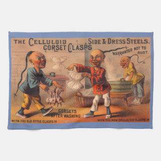 Paño De Cocina Corchetes del corsé del celuloide del tradecard