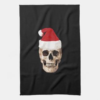 Paño De Cocina Cráneo de Papá Noel - el navidad es muerto