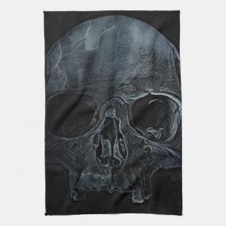 Paño De Cocina Cráneo esquelético médico gótico de la radiografía