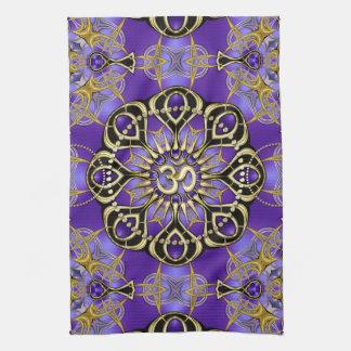 Paño De Cocina Decoración casera atenta de la mandala púrpura de