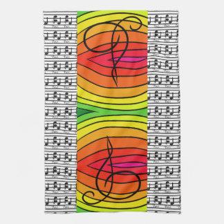 Paño De Cocina Decoración musical de la música del diseñador del