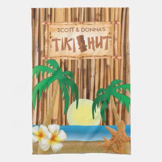 Paño De Cocina Diseño de bambú del palillo de la choza de Tiki