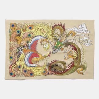 Paño De Cocina Dragón y Phoenix chinos
