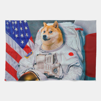 Paño De Cocina Dux perro-lindo del astronauta-dux-shibe-dux del