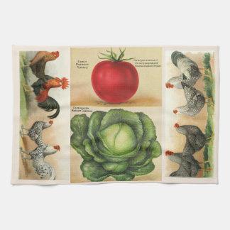Paño De Cocina Ejemplos de la granja del vintage: estilo rural