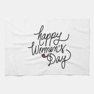 Paño De Cocina El día de las mujeres felices