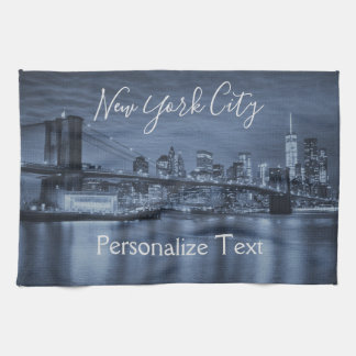 Paño De Cocina El horizonte azul de NYC personaliza