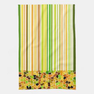 Paño De Cocina El otoño colorea el amarillo Brown verde del rojo