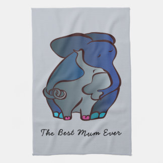 Paño De Cocina Elefantes cariñosos 4 la mejor momia por