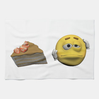 Paño De Cocina Emoticon enfermo amarillo o smiley