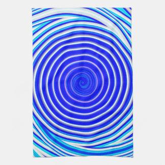 Paño De Cocina Espiral azul