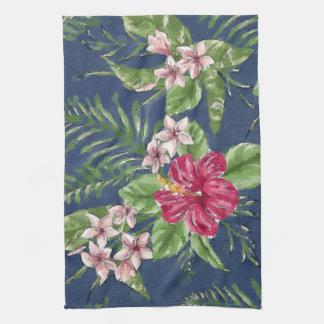 Paño De Cocina Estampado de flores tropical de Hawaii de los