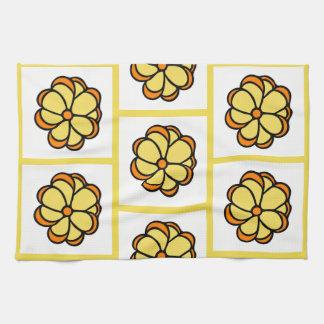 Paño De Cocina Estampado de plores Dishtowel - amarillo